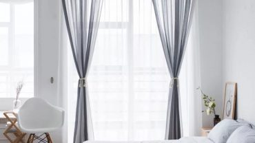 minimalist bedroom curtains